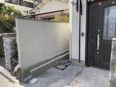 貝塚市K様邸 塀吹付塗装