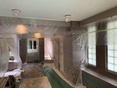 マンションのエントランス天井塗装