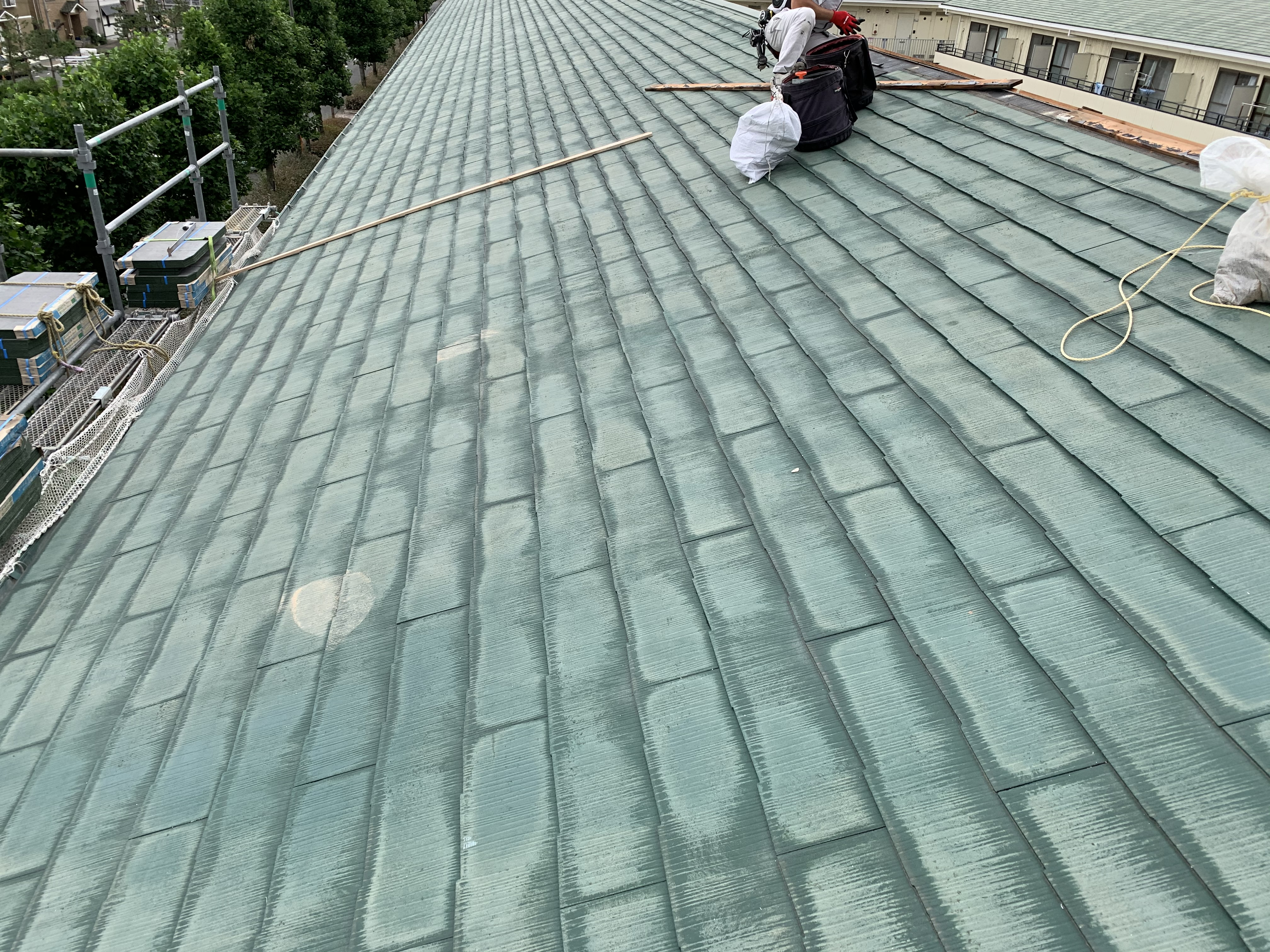 泉佐野市ハイツ雨漏り修繕工事着工しました!!