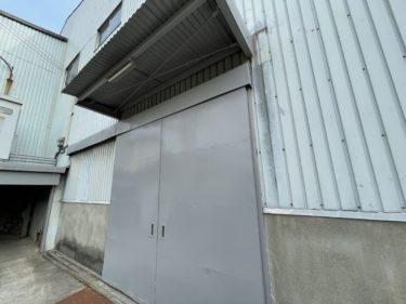 忠岡町某工場 駐車場鉄部塗装・漏水補修工事着工しました!!