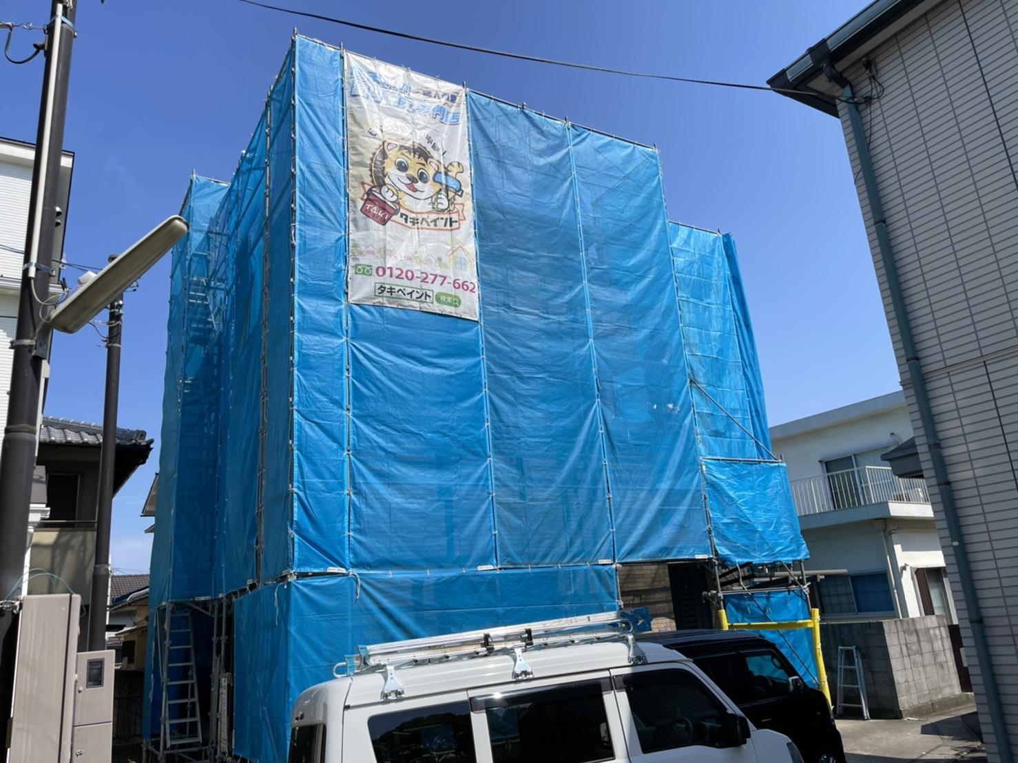 泉大津市F様邸 屋根・外壁塗装工事着工しました!!